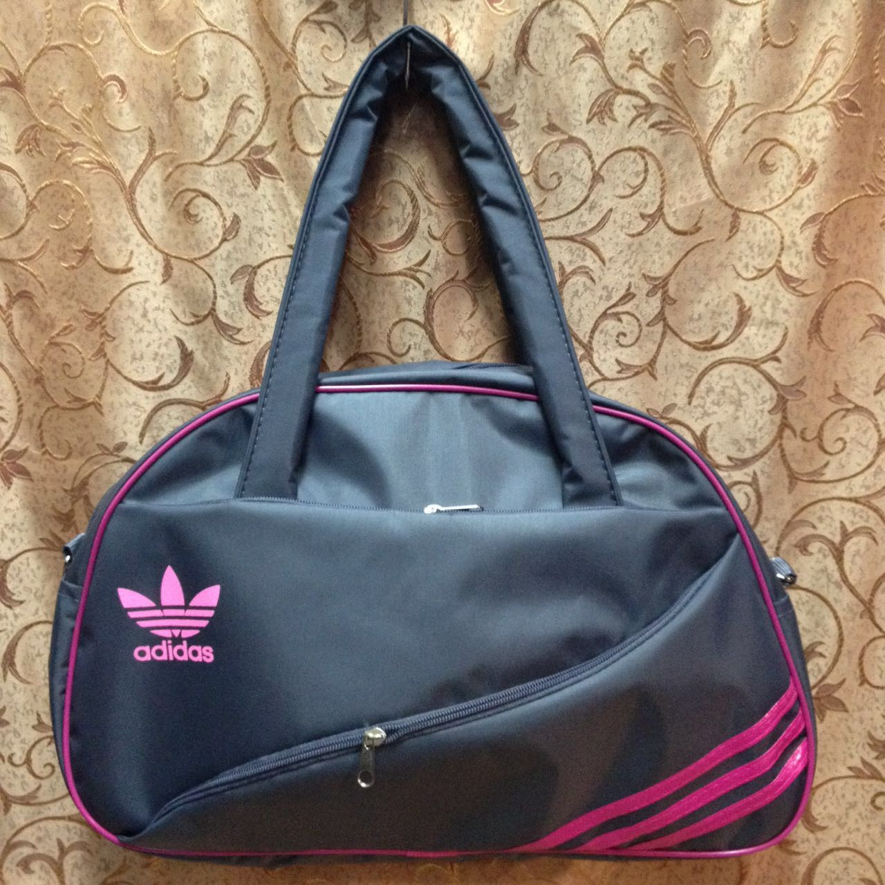 Сумка спортивная adidas  только ОПТ (серый)/спорт сумки /Женская спортивная сумка