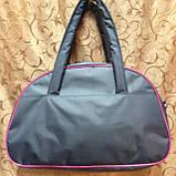 Сумка спортивная adidas  только ОПТ (серый)/спорт сумки /Женская спортивная сумка, фото 3