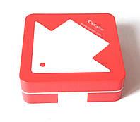 Дорожный полный набор для контактных линз с контейнером, пинцетом, бутылочкой, зеркалом, пудровый, Стрелка, фото 1