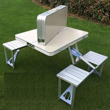 Стол складной со стульями в чемодане для пикника