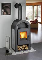 Каминофеня - кафельная печь камин на дровах c водяным контуром Haas+Sohn Grand Max Plus 2/11 серая ., фото 1