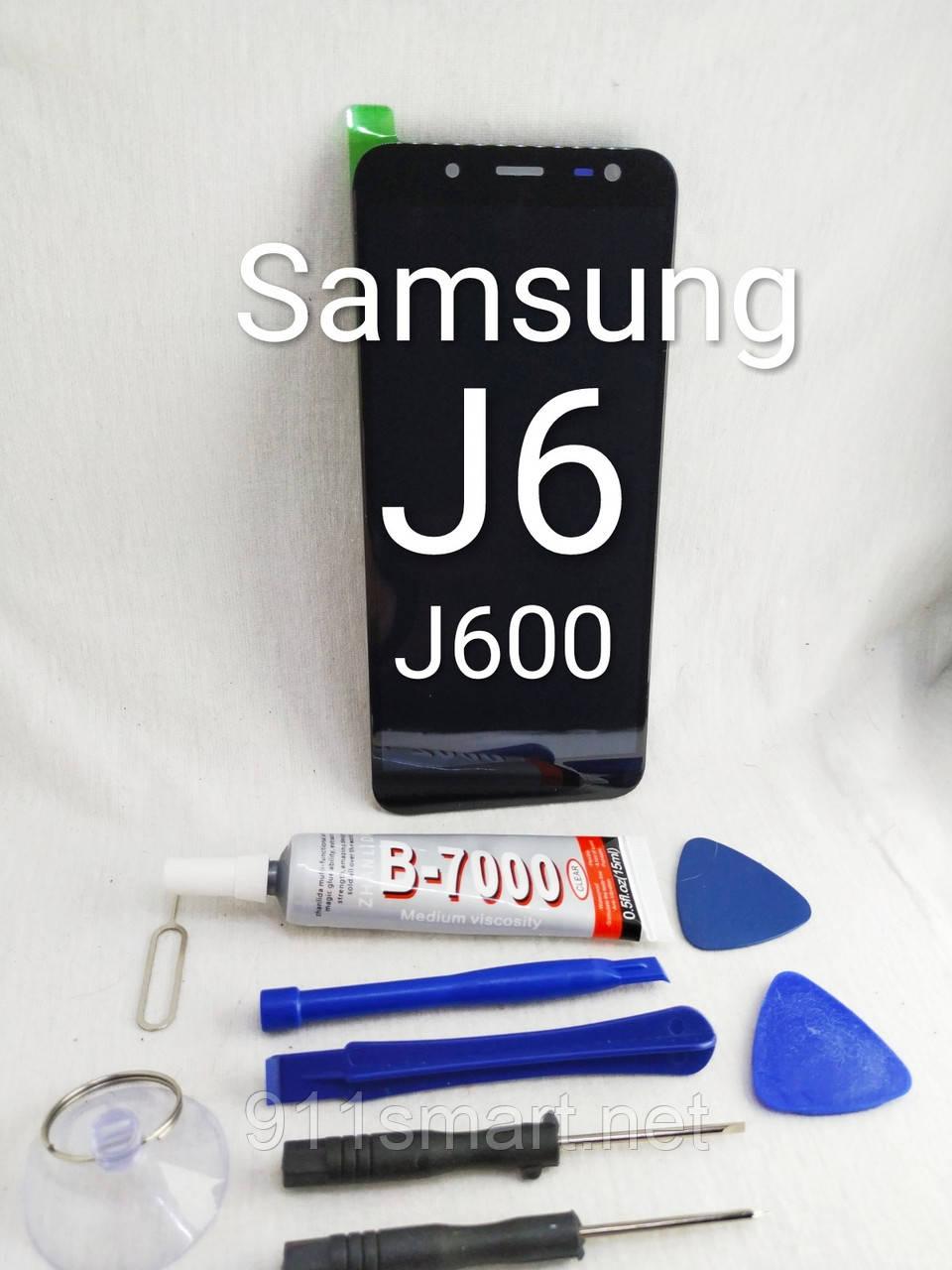Дисплей модуль LCD тачскрин Samsung Galaxy J6 J600 2018