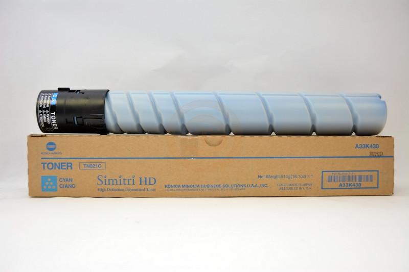Тонер Konica Minolta TN-321C Cyan (синий), bizhub серии С224е/C284e/C364e на 25 000@5%.