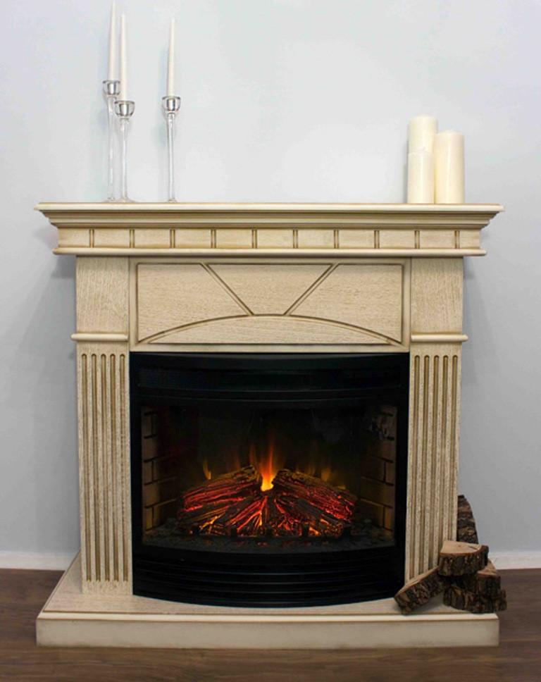 Підлоговий каминокомплект Fireplace Індія Шпон дуб ефект живого полум'я зі звуком і обігрівом