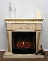 Электрокамин с порталом в современном стиле  из МДФ Fireplace Индия эффектом сгорания дров и пламени