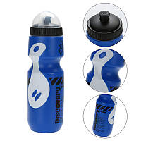 Фляга Discovery для велосипеда 650ml велосипедная бутылка Blue-White