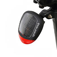 Габаритный задний фонарь Robesbon на солнечной батарее для велосипеда Черный 909