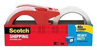 Сверхпрочная транспортировочная упаковочная лента скотч с многоразовыми диспенсерами 2 шт по 50 м