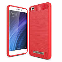 Чехол Carbon для Xiaomi Redmi 4A бампер Pink