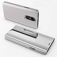 Чехол Mirror для Xiaomi Redmi Note 4 / Note 4 Pro (Mediatek) книжка Silver