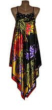 Шелковый сарафан со стразами лилия