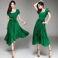Зеленое винтажное платье