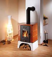 Кафельная  печь камин на дровах c водяным контуром Haas+Sohn Eboli
