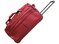 Дорожная удобная  сумка на колесах среднего размера  Airtex бордовая