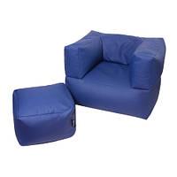 Бескаркасное кресло, пуф