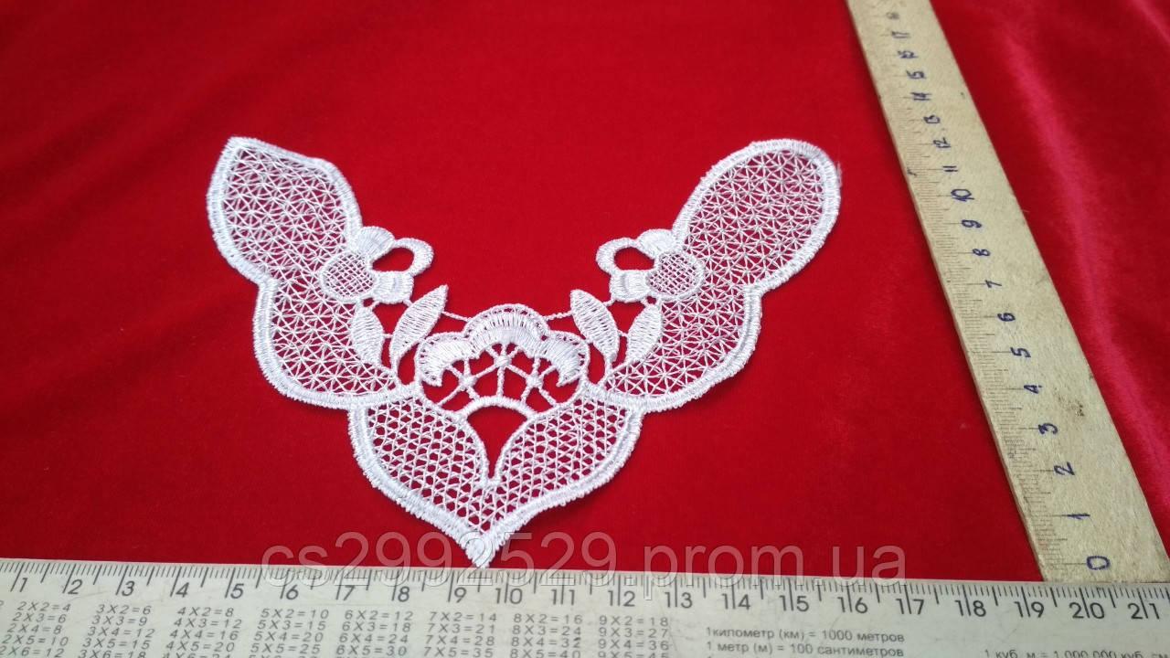 Вставка нашивка сетка кружевная. Вставка пришивная для пошива и декора. Цвет белый