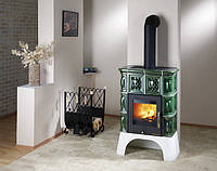 Кафельная  печь камин на дровах c водяным контуром Haas+Sohn Treviso