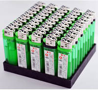 Зажигалка Прозрачная одноразовая 4586 Зеленая