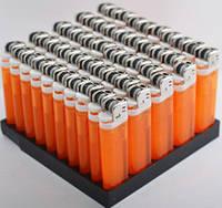 Зажигалка Прозрачная одноразовая 4586 Оранжевая