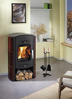 Кафельная  печь камин на дровах c водяным контуром Haas+Sohn Trino