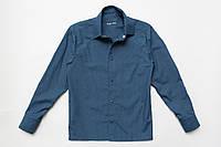 Рубашка детская с длинным рукавом р.110,116,122 на кнопках SmileTime, джинс