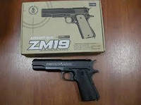 Металлический пистолет ZM19 на пульках