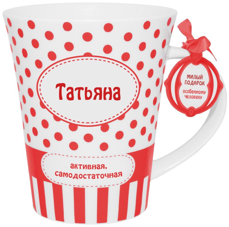 """Іменний кухоль з написом """"Тетяна"""""""