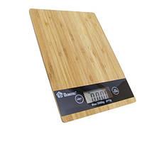 Электронные кухонные весы Domotec MS-A до 5 кг бамбуковая платформа