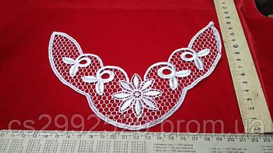 Вставка нашивка сетка кружевная декоративная для пошива и декора. Цвет белый