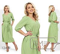 Костюм женский Блуза и юбка Софт Размер 42 44 46 48 50 52 54 В наличии 3 цвета, фото 1