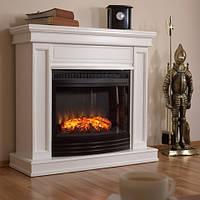 Электрокамин с порталом из МДФ в современном стиле Fireplace Италия  со звуком потрескивания дров