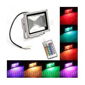 Светодиодный прожектор: 50W, IP65, цвет: RGB, 220V