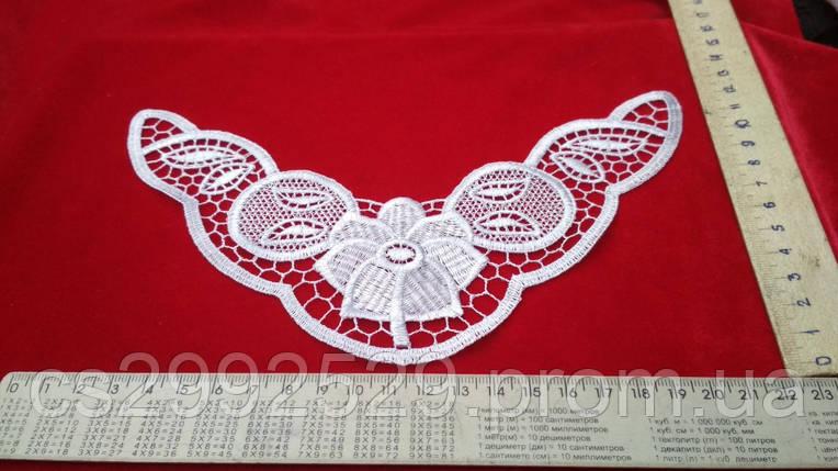 Вставка декоративная для пошива свадебной, женской и детской одежды. Цвет белый, фото 2