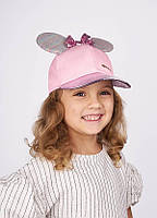Очаровательнаяя детская кепочка с ушками Сантана розовая
