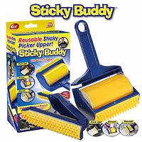 Щетка-липучка Sticky Buddy липкий валик для одежды уборки и шерсти