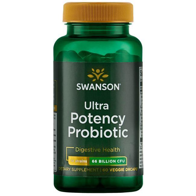 Swanson Ultra Potency Probiotic 66 млрд КОЕ 14 штаммов  60 капс