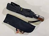 Мужской зонт полуавтомат на 10 спиц система антиветер цвет черный, фото 2