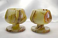 Рюмки из натурального, лечебного камнм Оникс 2 шт