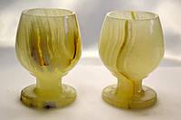 Бокалы из оникса 2 штуки (6,5х5 см)