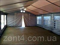 Шатер 5х10 ПВХ с окнами для кафе и бара, большой торговый павильон, ангар, тент, гараж,садовая палатка, фото 6