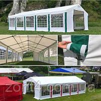 Шатер 5х10 ПВХ с окнами для кафе и бара, большой торговый павильон, ангар, тент, гараж,садовая палатка, фото 10