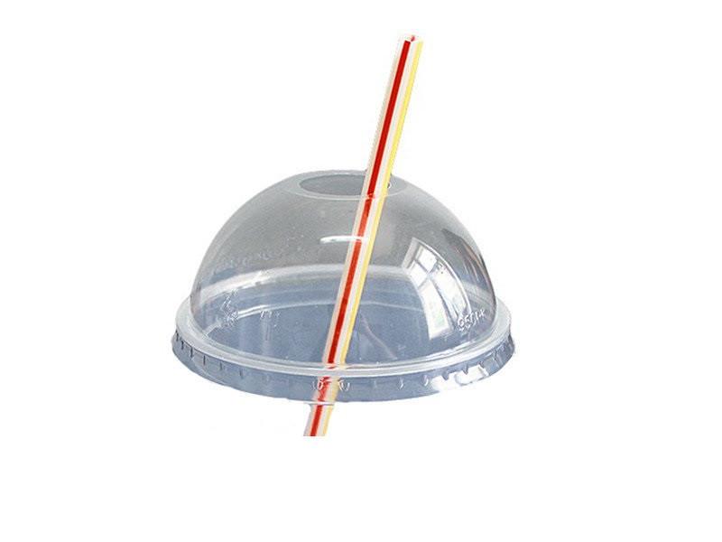 Крышки купольной формы с отверстием для стаканов 100Шт/уп