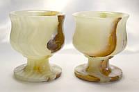 Бокалы из оникса натуральный камень (7х6 см)
