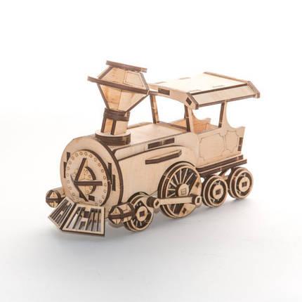Деревянный конструктор 3D пазл Поезд, фото 2