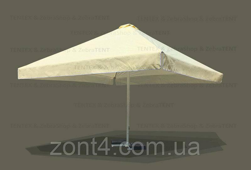 Тент 4х4 метра на зонт торговый, барный для кафе, садовый, уличный, замена тентов, полиестр