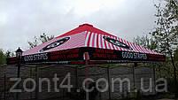 Тент 4х4 метра на зонт торговый, барный для кафе, садовый, уличный, замена тентов, полиестр, фото 4