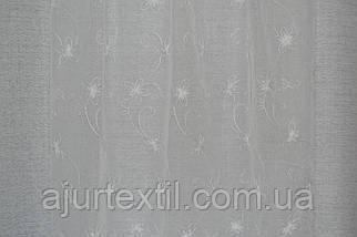"""Тюль кристалон """"Смарагд"""" білий, фото 3"""