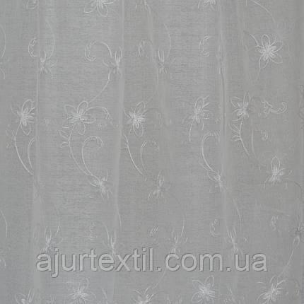 """Тюль кристалон """"Смарагд"""" білий, фото 2"""