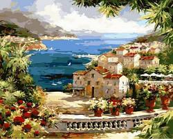 Картина по номерам Вид на гавань. Худ. Питер Белл 40x50 см. Mariposa