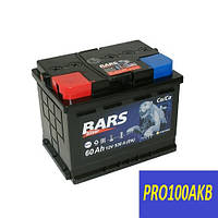 Автомобильный аккумулятор Bars silver 60 Ач 530 А (0) R+